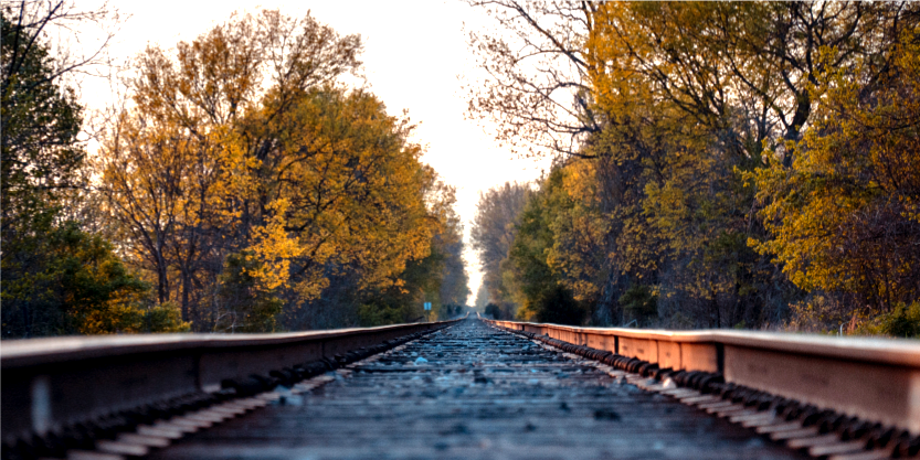 RR tracks in autumn
